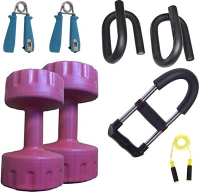 Krazy Fitness Exercise Equipments With 2 PC. 3 Kg PVC Dumbells Gym & Fitness Kit