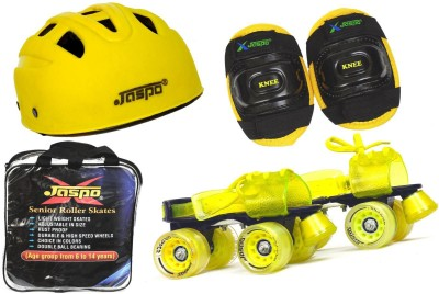 Jaspo Storm Eco Superior Senior Skates Combo (skates+helmet+knee+bag)suitable for age upto 6 to 14 years Skating Kit