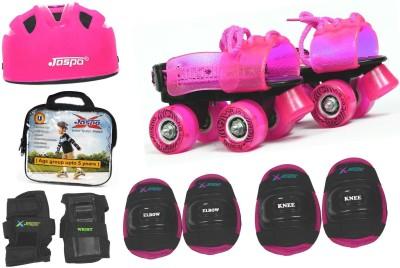 Jaspo Pink Heaven Dual junior Skates Combo (skates+helmet+bag)suitable for age upto 5 years Skating Kit