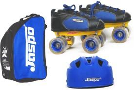 JASPO Jaspo Sprint Dual Shoe Skates Combo SIZE 2 UK (shoe skates+ helmet+bag)Foot length 22.9 cms (For age group 8-9 years) Skating Kit
