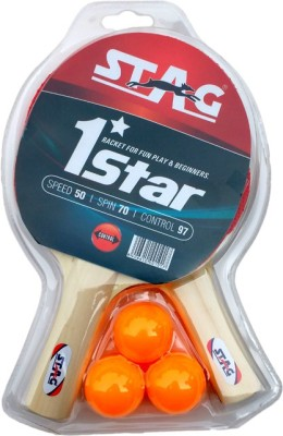 Stag 1 Star Play Set 2 Bats Table Tennis Kit