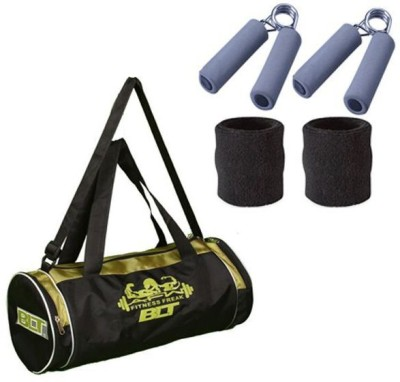 BLT Passion Duffel Bag With 1 Pair Sweat Bands & Power Grips Gym & Fitness Kit
