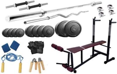 Protoner 65 Kgs & 6 In 1 Bench Gym & Fitness Kit