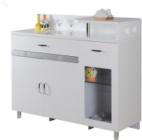 Royal Oak Aster Engineered Wood Crockery Cabinet(Finish Color - White)