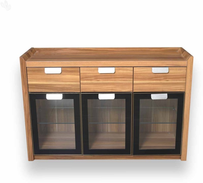 Royal Oak Daffodil Engineered Wood Crockery Cabinet(Finish Color - Natural Brown)