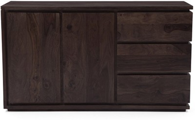 Urban Ladder Vector XL Solid Wood Crockery Cabinet(Finish Color - Mahogany)