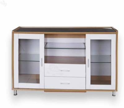 Royal Oak Olive Engineered Wood Crockery Cabinet