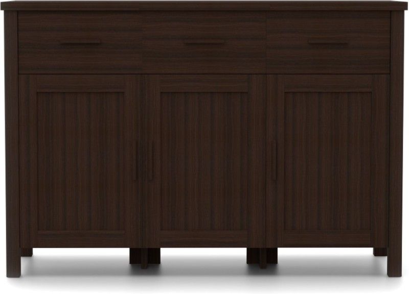 Urban Ladder Norland Sideboard Engineered Wood Crockery Cabinet(Finish Color - Dark Walnut)