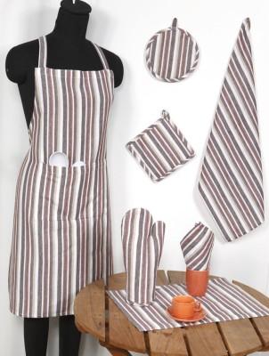 Ocean Homestore Brown Cotton Kitchen Linen Set(Pack of 14) at flipkart