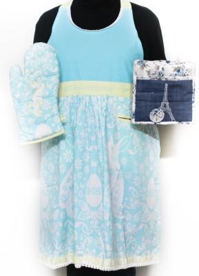 Barkat Blue, Multicolor Cotton Kitchen Linen Set