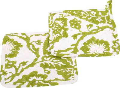 Rajrang White, Green Cotton Kitchen Linen Set