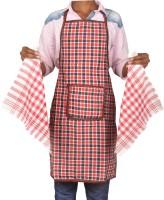 Jass Home Decor Red Cotton Kitchen Linen Set(Pack of 3)