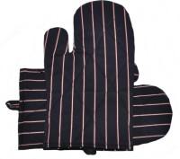 Prince Black, Red Cotton Kitchen Linen Set