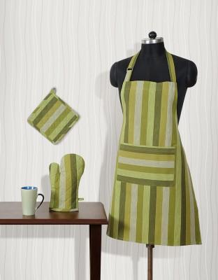 Shahenaz Home Shop Green Cotton Kitchen Linen Set