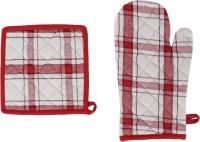 Iris Innovations Maroon Cotton Kitchen Linen Set(Pack of 3)