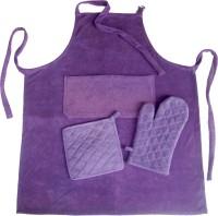 Homeblendz Purple Cotton Kitchen Linen Set(Pack of 3)
