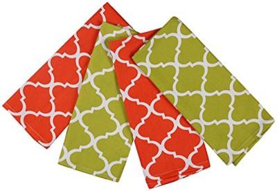 London Lady Red, Green Cotton Kitchen Linen Set