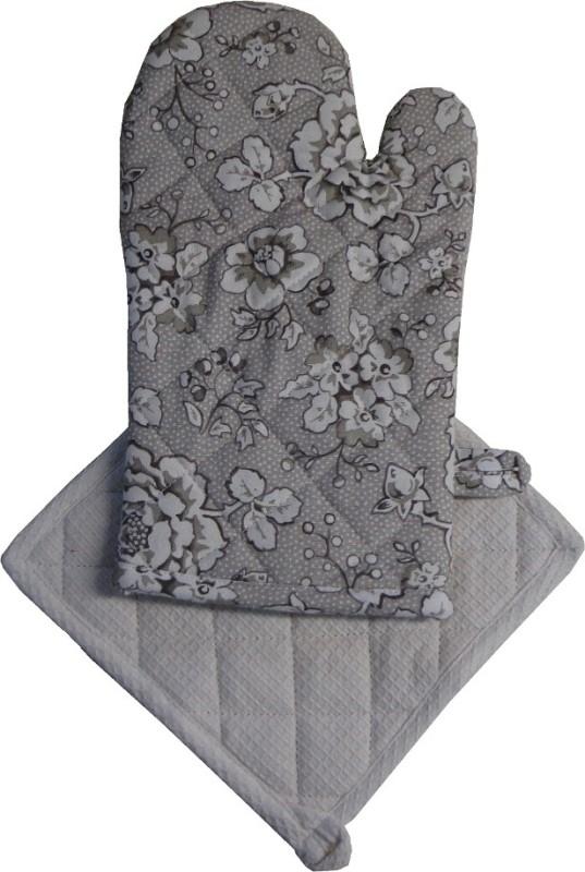 Adt Saral Grey Cotton Kitchen Linen Set(Pack of 2)