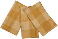 London Lady Yellow Cotton Kitchen Linen Set(Pack of 3)