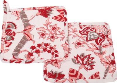 Rajrang White, Pink Cotton Kitchen Linen Set