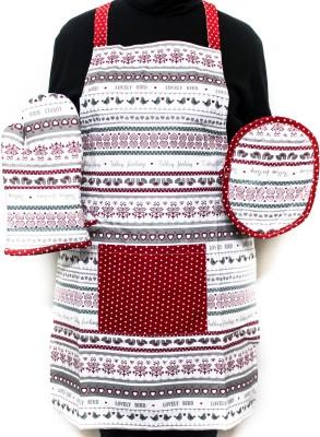 Barkat Red, Multicolor Cotton Kitchen Linen Set