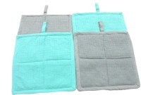 Tidy Green, Grey Cotton Kitchen Linen Set(Pack of 4)