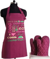 Swayam Purple Cotton Kitchen Linen Set(Pack of 3)