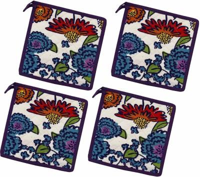 Miyan Bazaz White, Multicolor Cotton Kitchen Linen Set