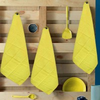 R home Yellow Cotton Kitchen Linen Set(Pack of 3)