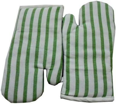 Tidy Green, White Cotton Kitchen Linen Set