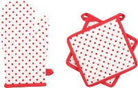 Iris Innovations Red Cotton Kitchen Linen Set(Pack of 3)