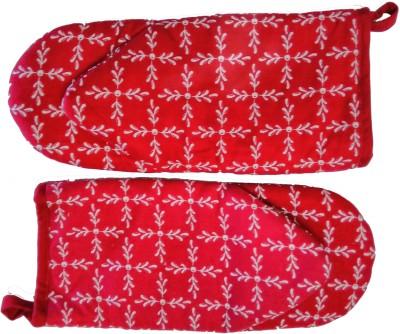 Tidy Red Cotton Kitchen Linen Set