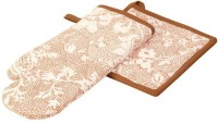 POBO Brown Cotton Kitchen Linen Set(Pack of 2)