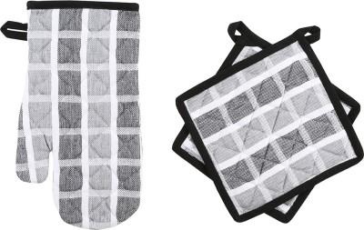Iris Innovations Black Cotton Kitchen Linen Set