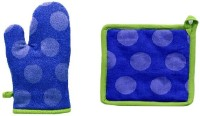 Ambiencia Blue Jacquard Kitchen Linen Set(Pack of 2)