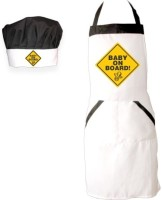 Giftsmate White Cotton Kitchen Linen Set(Pack of 2)