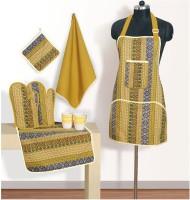 Swayam Orange, Blue Cotton Kitchen Linen Set(Pack of 6)