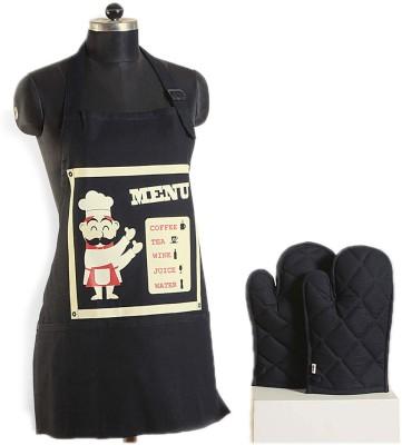 Swayam Red, Black, Beige Cotton Kitchen Linen Set