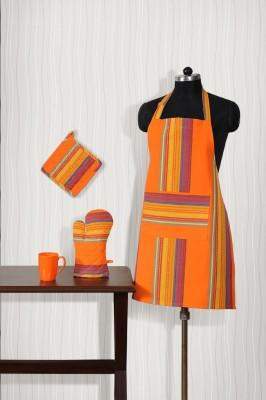 Shahenaz Home Shop Orange Cotton Kitchen Linen Set