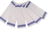 London Lady White Cotton Kitchen Linen Set(Pack of 6)