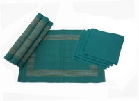 Impact Home Green Cotton Kitchen Linen Set(Pack of 8)