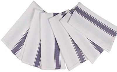 London Lady White, Blue Cotton Kitchen Linen Set