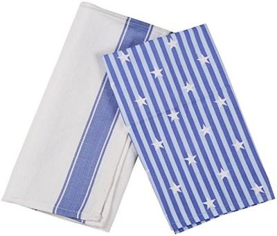 London Lady Blue, White Cotton Kitchen Linen Set
