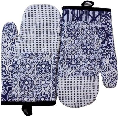 Tidy White, Blue Cotton Kitchen Linen Set
