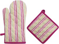 Cotonex Yellow, Pink Cotton Kitchen Linen Set(Pack of 2)