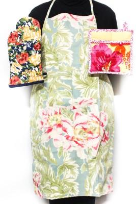 Barkat Multicolor Cotton Kitchen Linen Set
