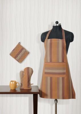 Shahenaz Home Shop Brown Cotton Kitchen Linen Set