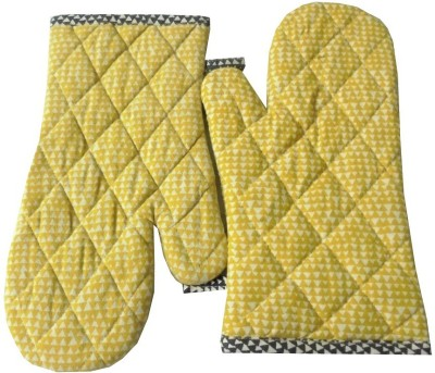 Tidy Yellow Cotton Kitchen Linen Set(Pack of 2)