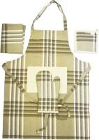 Belle Maison Beige Cotton Kitchen Linen Set(Pack of 4)