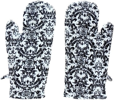 Tidy White, Black Cotton Kitchen Linen Set